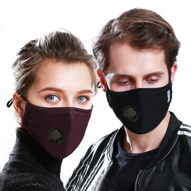 Cotton PM2.5 Mouth Mask With 5 Activated Carbon Filter Windproof Mask Reusable Mouth-muffle Men Women Face Mask 4