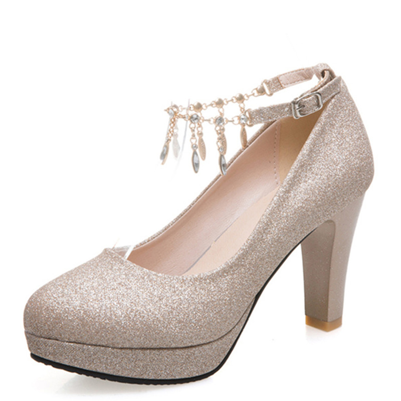 Fashion Female High Heels Sexy Shoes Luxury Gold Silver Pink Women's Heels Pumps Party Office Wedding Shoes New Designer 6