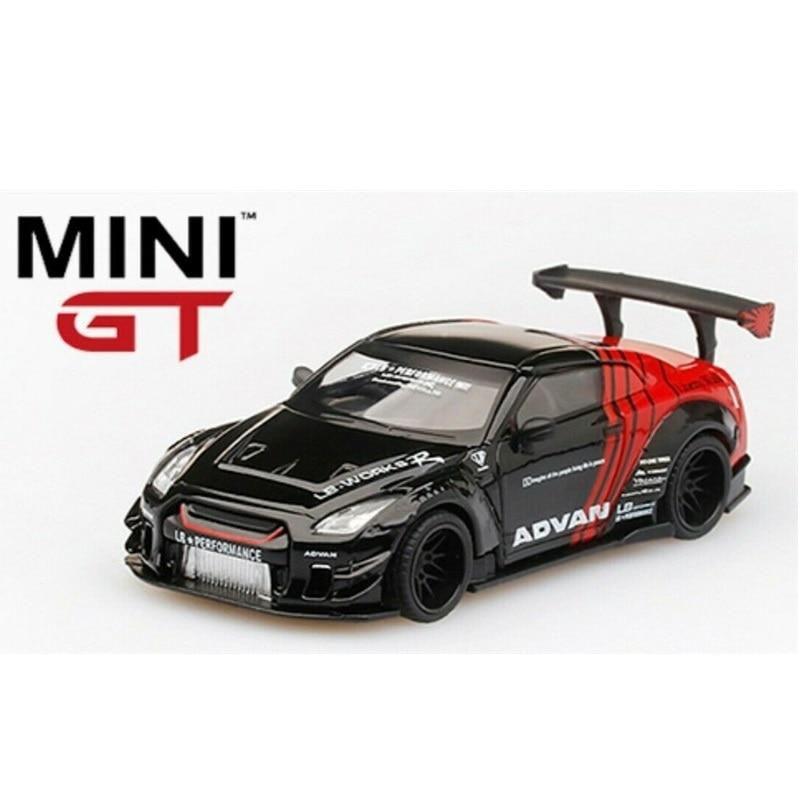 1:64 MiniGT LB WORKS Nissan GTR R35 Advan Japan Exclusive RHD Diecast Model Car