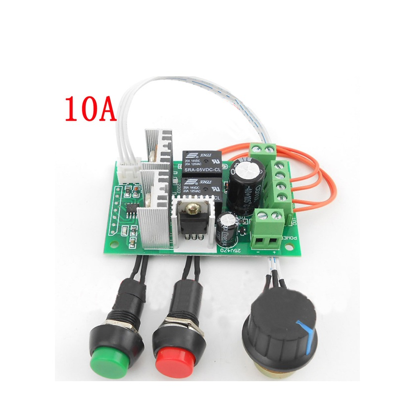 PWM 10A Dc Motor Controller Forward And Backward Linear Actuator Governor Speed Control Self-reset 6V/12V/24V