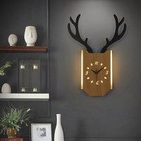 18W Relógio de Parede Relógio de Parede Moderna Sala de estar Quarto lâmpada de Cabeceira Lâmpada Nordic Chifres Luz Interior Decoração de Iluminação Industrial