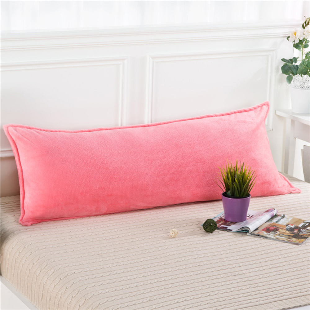 Soft Warm Pillowcase coral Fleece Flannel Solid Printed no core Pillow sham For winter 8 Colors Cover