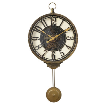 Decorative Antique Pendulum Metal Wall Clock Large Mute Wall Clocks Vintage Round Modern Home Watch Wall Retro Decor New II50BGZ