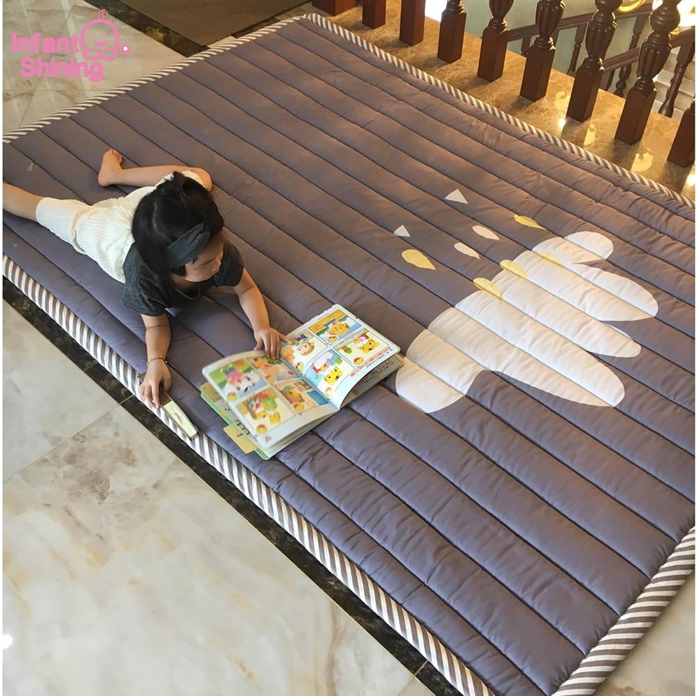 3CM Thickness Rug Children Baby Carpet 140*195*3CM Machine Washable Mats Anti-skid Play mat Bedroom 55*77 Inch