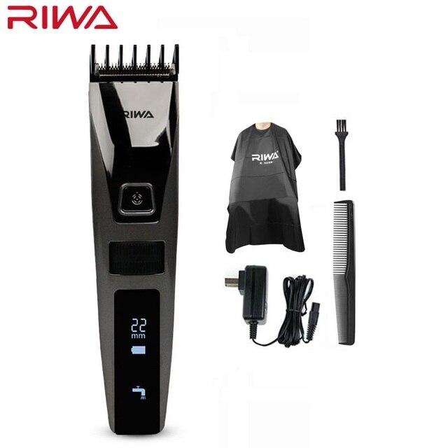 Riwa K3 profesyonel saç kesme makinesi bir dahili tarak şarj edilebilir su geçirmez erkek saç düzeltici makinesi akülü lcd ekran
