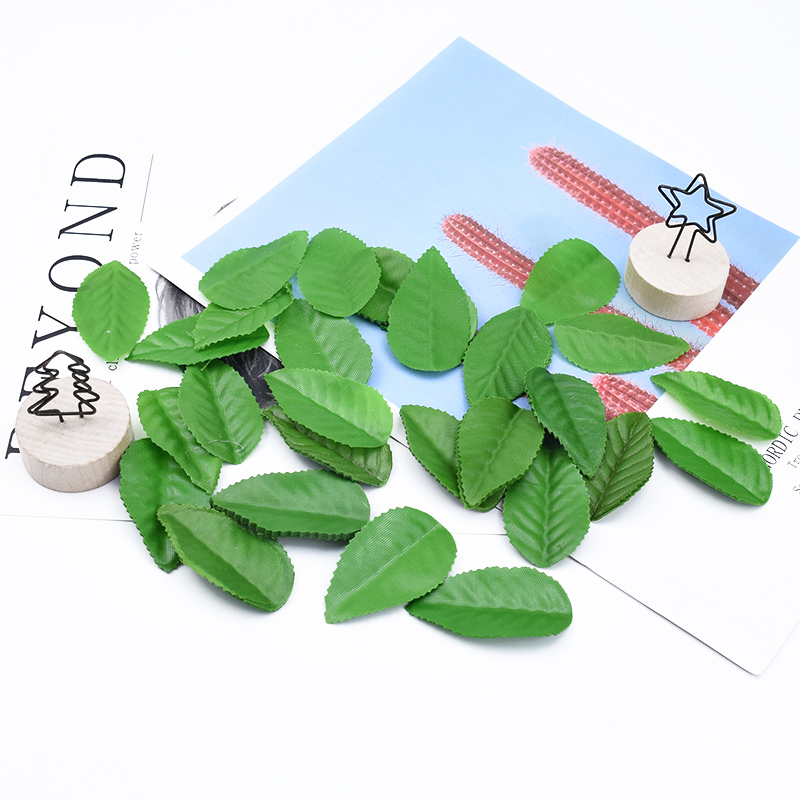 100/200/300 Pieces Needlework Wedding Decorations DIY Gifts Candy Box Scrapbooking Christmas Leaves Home Decor Silk Roses Leaf
