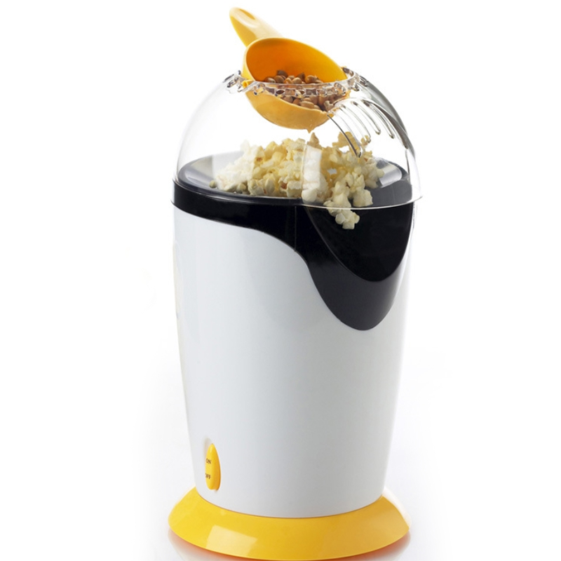 ABRA-220V Portable Electric Popcorn Maker Hot Air Popcorn Making Machine Kitchen Desktop Mini Diy Corn Maker, Eu Plug