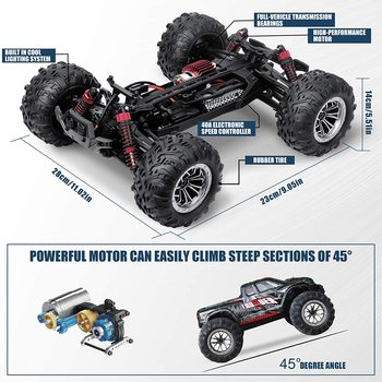 RC Car 40KM/H High Speed Racing Remote Control Car Truck for Adults 4WD Off Road Monster Trucks Climbing Vehicle Christmas Gift 2