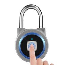 Cerradura de huella dactilar inteligente sin llave, Bluetooth portátil, impermeable, desbloqueo de huellas dactilares, antirrobo, candado de seguridad para puerta