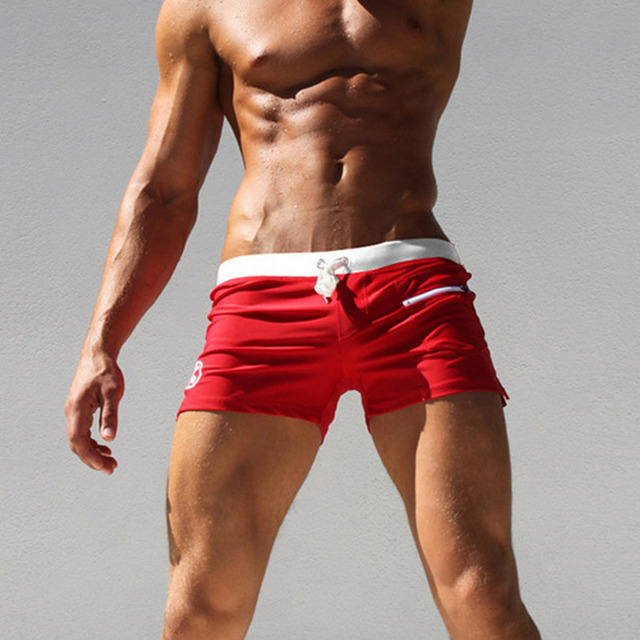 UK Men Swim Shorts Swimwear Swimming Trunks Underwear Boxer Briefs Pants M-2XL 2