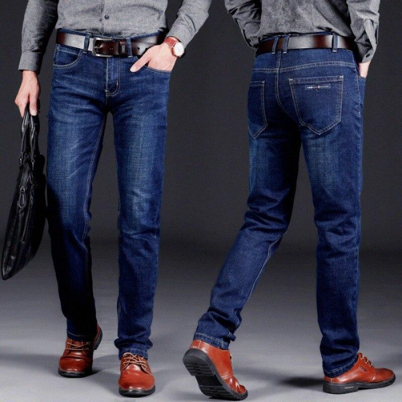 2018 Autumn & Winter New Style Jeans Men's Versatile Business Trousers Business Casual Straight-leg Pants Young MEN'S 121 #