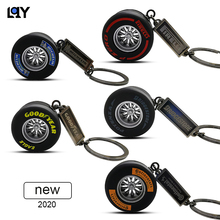 LQY 2020 keychain car business Tire interior accessories keyring Creative Auto Accessories new