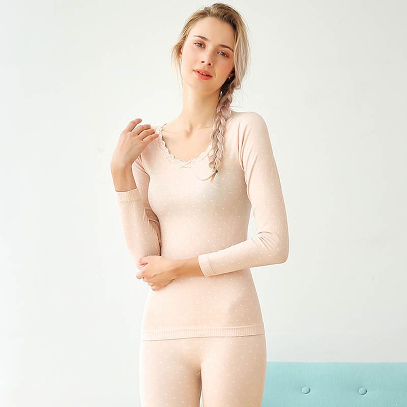 Warm Long Johns For Women Autumn Winter Cotton Thermal Underwear Suit Stretch Female Seamless Shape Slimming Sexy Underwear Sets