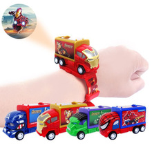 2020 New Projection Spiderman Kids Watches Cars Toys Hulk Ca