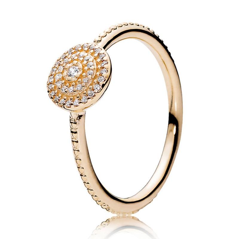 Кольцо на палец в форме сердечко серебряного цвета для женщин, европейская оригинальная Корона, изящные кольца на палец, свадебные украшения, 50 стилей, Прямая поставка - Цвет основного камня: Rings 042