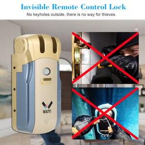 Image 5 - Wafu HF 010 Wifi APP חכם מנעול אלחוטי אלקטרוני מנעול דלת טלפון בקרת מנעול בלתי נראה שלט רחוק מקורה מגע מנעולים