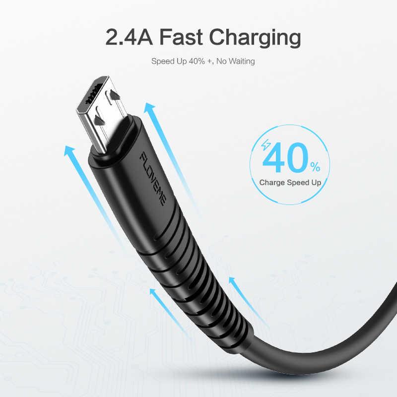 FLOVEME Micro USBสาย 2.4A FAST CHARGE USB Data CABLEสำหรับSamsung Xiaomi LGแท็บเล็ตAndroidโทรศัพท์มือถือUSBชาร์จสายไฟ