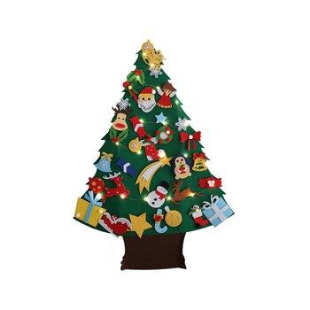 DIY Felt Christmas Tree Wall Hanging Christmas Ornaments Santa Claus Xmas Tree New Year Gifts  Christmas Ornaments Kids Gift недорого