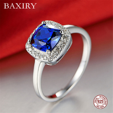 Luxury Trendy Ruby Ring Gemstones Natural For Jewelry Silver Blue Topaz 925 Sterling Rings Women Engagement