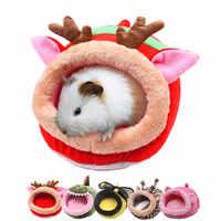 Mini animais ouriço quente casa cama pequeno animal de estimação dormir casa hamster filhote de cachorro gatinho casa cama macia cobaia ninho natal