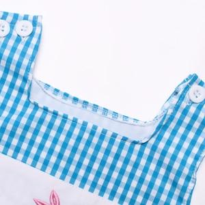 Image 4 - יילוד תינוק בגדי ילד בני בנות סרבל פסחא לפעוטות בני תלבושות ילדה אופנה ילדים Romper ילדי סתיו בגדים כחול
