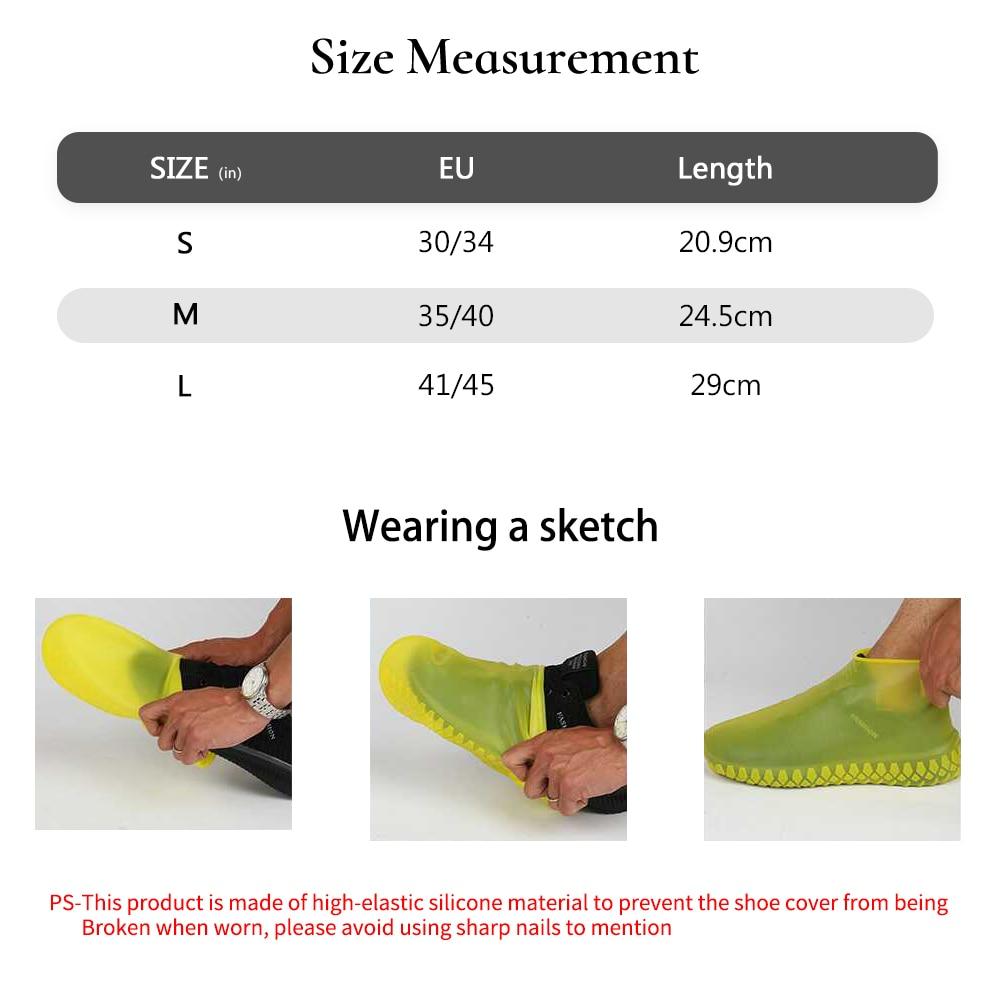 Nepremokavé návleky na topánky Cyklistické dažďové opakovane použiteľné zimné topánky Protišmykové silikónové elastické pokrývky topánok Chráňte topánky Doplnky