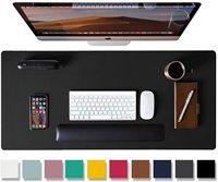 Alfombrilla de ratón grande de doble cara para escritorio de PU, Protector de escritorio de cuero impermeable para Gaming, alfombrilla de ratón para oficina y hogar