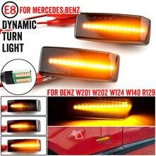 FEUX DE POSITION LATÉRAUX LED Voiture Répétiteur de Clignotant Lampe Pour Mercedes-benz W201 190 W202 W124 W140 R129 SL-CLASS