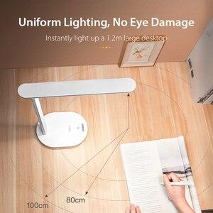 Image 2 - Kademesiz kısılabilir masa okuma lambası katlanabilir dönebilen dokunmatik anahtarı LED masa lambası USB şarj aleti şarj edilebilir pil gece lambası