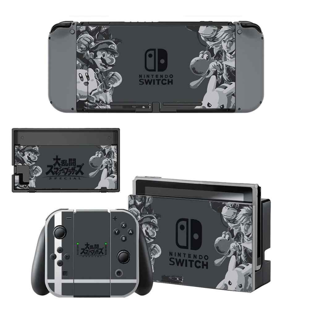 Super Smash Bros Nintendoswitch Skin Nintend Switch Vinilo Skin Sticker Decal for Nintendo Switch NS Console Joy-con Controller