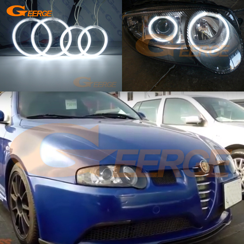 For Alfa Romeo 147 2000 2001 2002 2003 2004 Xenon Headlight Excellent Ultra Bright Illumination CCFL Angel Eyes Kit Halo Ring