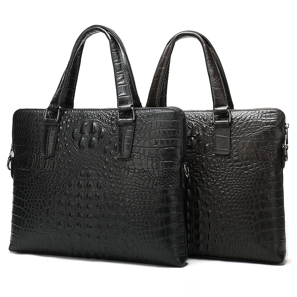 Genuine Crocodile Messenger Bag Office Bags For Men Leather Male Package Business Affairs Man Luxury Handbag Briefcase Computer