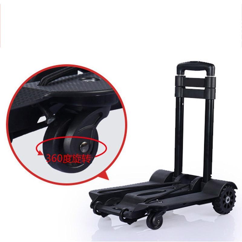 Автомобильная складная тележка для багажа из алюминиевого сплава, портативный дорожный прицеп, бытовая тележка, тележка для покупок, тележ...