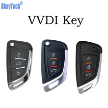 цена на OkeyTech VVDI Key Universal Wireless/Wire Smart Key Card Proximity Key for VVDI Key Tool 3 Button Car Keys Remote Control VVDI2