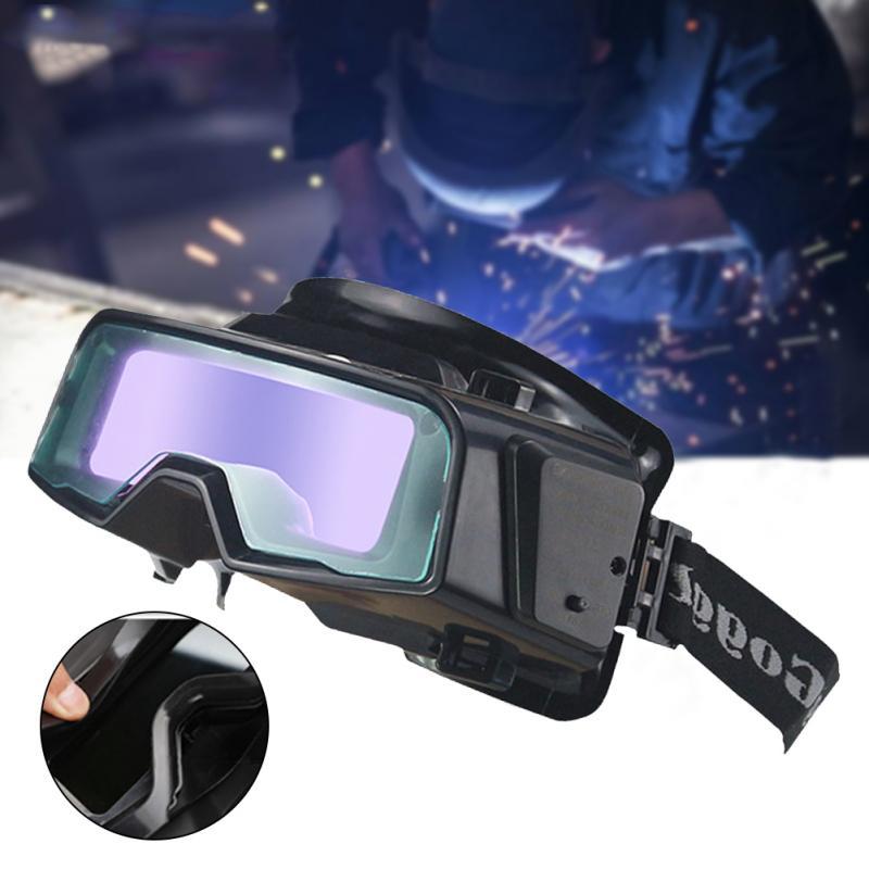 Anti-Glare True Color Welding Goggles, Auto Darkening Welding Glasses For TIG MIG MMA Plasma Weld Mask LYG-R100A Scratch Proof