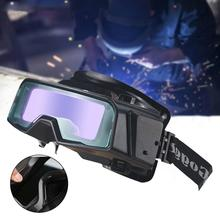 Gafas de soldadura de Color verdadero antideslumbrante, gafas de soldadura de oscurecimiento automático para Máscara de Soldadura de Plasma TIG MIG MMA LYG R100A a prueba de arañazos