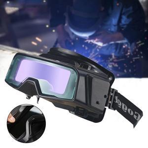 Image 1 - Gafas de soldadura de Color verdadero antideslumbrante, gafas de soldadura de oscurecimiento automático para Máscara de Soldadura de Plasma TIG MIG MMA LYG R100A a prueba de arañazos