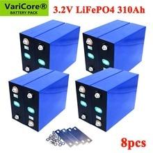 8 قطعة VariCore 3.2V 310Ah lifepo4 بطارية DIY 4S 12V بطارية قابلة للشحن حزمة ل الكهربائية سيارة RV الشمسية الطاقة تخزين نظام