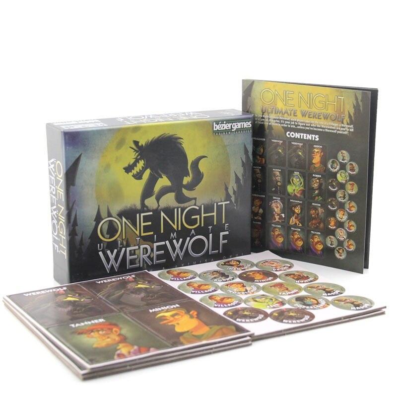 Оборотень убивает английское издание настольная игра карточная игра семейные вечерние игры карточная игра для взрослых, подростков и дете