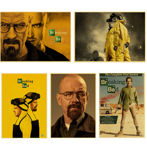 Image 1 - Wall stickers home decor Wall poster Breaking Bad vintage poster retro Walter White posters american TV series
