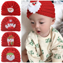 Knitted Winter Baby Hat Boy Girl Warm Christmas Cartoon Knit Crochet Hats Beanie Cap Children Kids Baby Bonnet Cap for 0-4 Years(China)