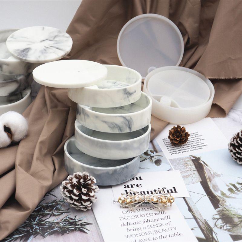 Handmade Rotating 3-Tiered Tray Jewelry Storage Organizer Mold DIY Box Epoxy Resin Casting Silicone Mold Art Craft Tools