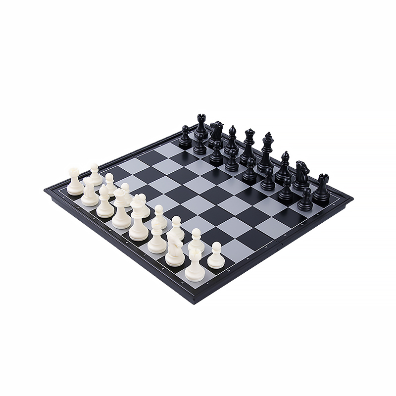 Medieval Wooden Magnetic Chess Set Tournament Chess With Vinyl Chessboard Board Games Travel Chess Pieces Board Game Kids Toy