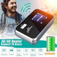 Tragbare 2G/3G/4G Mobile WiFi Drahtlose Tasche Hotspot Router Breitband 3560mAh lange Standby  zeit-in 3G-/4G-Router aus Computer und Büro bei