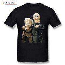 Muppets T Shirt Statler And Waldorf Fashion Short Sleeves Tee Mens Printed 100 Percent Cotton Plus Size Tshirt