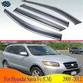 Для Hyundai Santa Fe (CM) 2008 2009 2010 2011 2012 автомобильные аксессуары пластиковый внешний козырек вентиляционные оттенки окна Защита от солнца и дождя