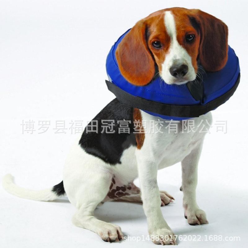 PVC Inflatable Dog Collar Inflatable Pet Collar Dog Hu Jing Quan Pet Swimming Tube Two-Two-color