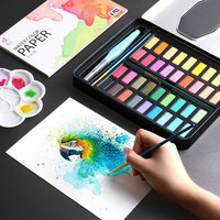 Solid Watercolor Paint Set Sketch Watercolor Powder 36 Color Watercolor Paint