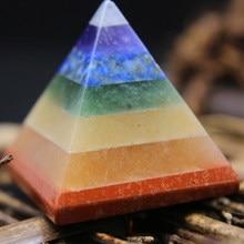 7 chakra multi-pedra reiki pirâmide cura pedras preciosas espirituais gerador de energia presentes