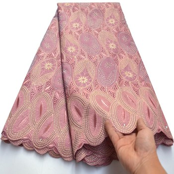 5 yards Onion cotton lace African Swiss voile lace fabric Nigerian Ghana sewing clothes Ki142